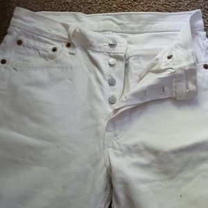 Vintage Distressed Levi's White Button Fly